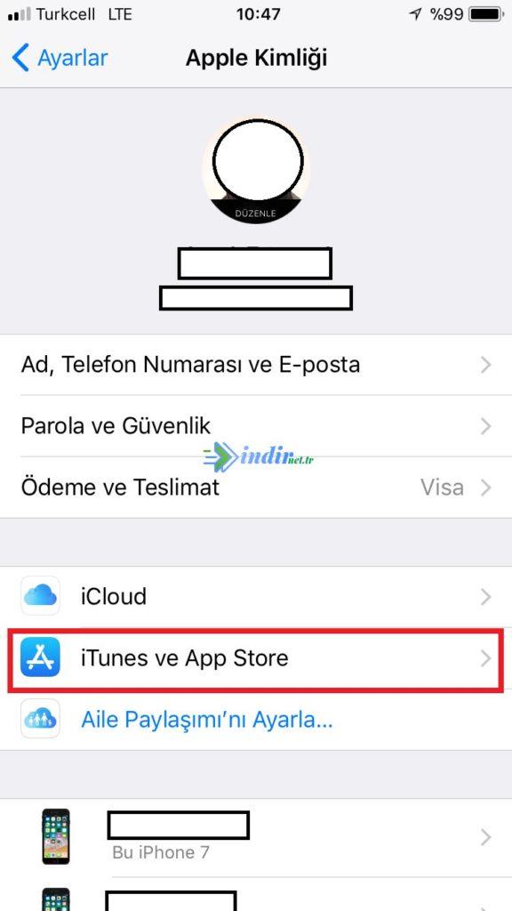apple music aboneliği iptal