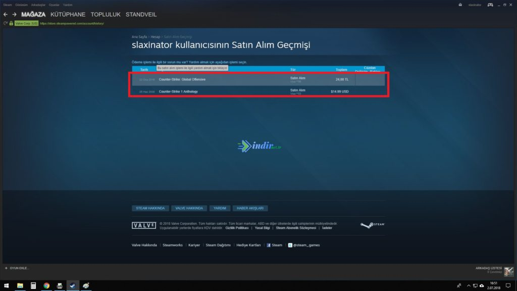 steam oyun silme